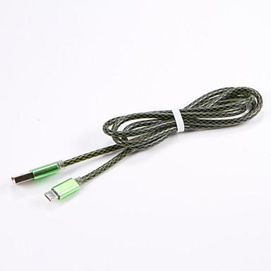 Micro USB 2.0 USB 2.0 Adapter kabla USB Przenośny Kable Na Samsung Huawei LG Nokia Lenovo Motorola Xiaomi HTC Sony 100 cm PVC Metal