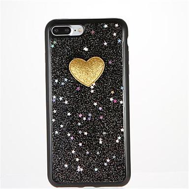 Pentru Reparații Maska Carcasă Spate Maska Shine Glitter Inimă Moale TPU pentru AppleiPhone 7 Plus iPhone 7 iPhone 6s Plus iPhone 6 Plus