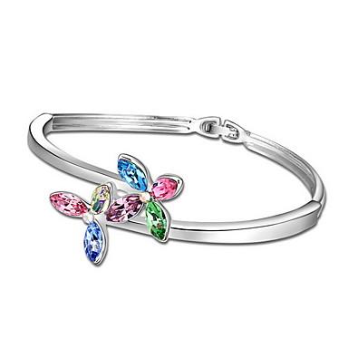 Kadın's Bilezikler Mücevher Arkadaşlık Moda Zirkon alaşım Geometric Shape Mücevher Uyumluluk Parti Doğumgünü