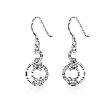 Damskie Dla dziewczynek Kolczyki wiszące Kryształ Geometryczny Posrebrzany Geometric Shape Biżuteria Na Ślub Impreza Codzienny Casual
