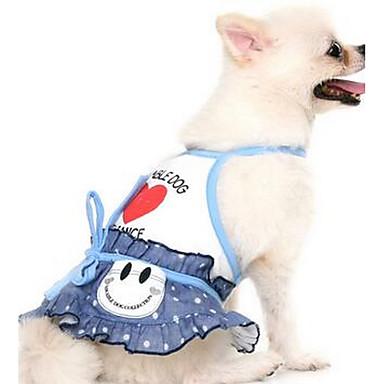 Köpek Elbiseler Köpek Giyimi Sevimli Günlük/Sade Çizgi Turuncu Mavi Kostüm Evcil hayvanlar için