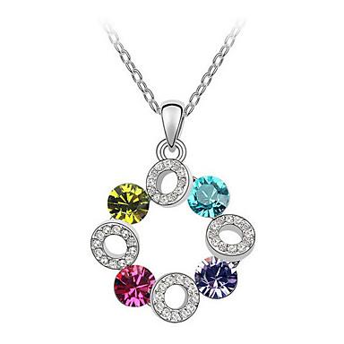 Pentru femei Coliere cu Pandativ Cristal Round Shape Prietenie Bijuterii Pentru