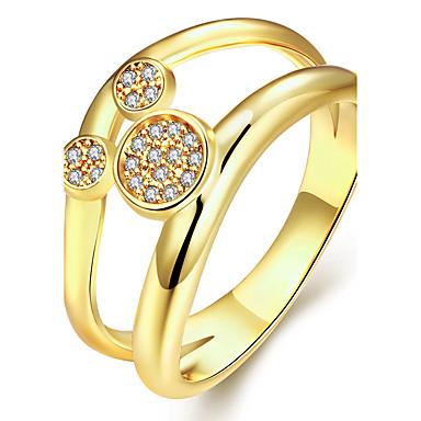 للمرأة خاتم مكعب زركونيا ذهبي روز جولد زركون نحاس مطلية بالذهب دائري مخصص تصميم دائري تصميم فريد قديم حجر الراين أساسي دائرة euramerican