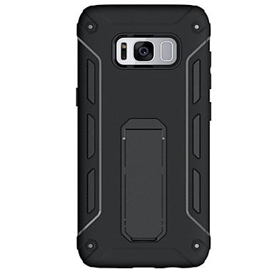 Pouzdro Uyumluluk Samsung Galaxy S8 Plus S8 Şoka Dayanıklı Satandlı Arka Kapak Tek Renk Sert PC için S8 Plus S8