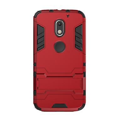 Etui Käyttötarkoitus Motorola Iskunkestävä Tuella Takakuori Yhtenäinen väri Kova PC varten Moto X Play Moto G4 Plus MOTO G4 Moto G3