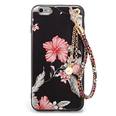Kılıf Na Apple iPhone 7 Plus iPhone 7 Wzór Wytłaczany wzór DIY Czarne etui Kwiaty Miękkie TPU na iPhone 7 Plus iPhone 7 iPhone 6s Plus