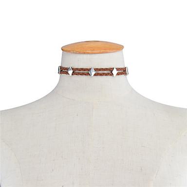 للمرأة Geometric Shape مخصص هندسي موضة euramerican في قلادات ضيقة مجوهرات سبيكة قلادات ضيقة ، يوميا فضفاض