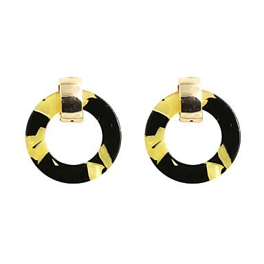 أقراط قطرة تصميم دائري موضة euramerican في أكريليك سبيكة Circle Shape Geometric Shape أصفر مجوهرات إلىزفاف حزب الهالووين يوميا فضفاض