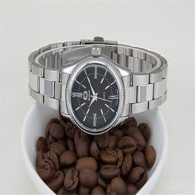Bărbați Ceas La Modă Quartz Oțel inoxidabil Bandă Argint Alb Negru