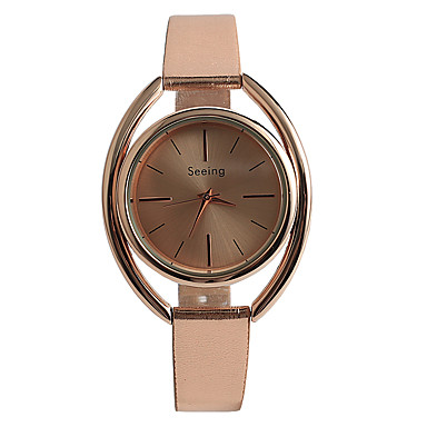 Kadın's Moda Saat Quartz / Gül Rengi Altın Kaplama PU Bant Günlük Gül Altın