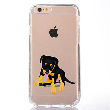 Pouzdro Uyumluluk Apple iPhone 7 Plus iPhone 7 Şeffaf Temalı Arka Kapak Köpek Yumuşak TPU için iPhone 7 Plus iPhone 7 iPhone 6s Plus
