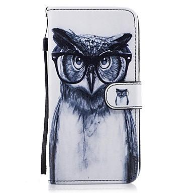 Maska Pentru Samsung Galaxy S8 Plus S8 Portofel Titluar Card Cu Stand Întoarce Model Corp Plin Bufniţă Greu PU Piele pentru S8 S8 Plus S7
