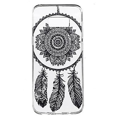 Pouzdro Uyumluluk Samsung Galaxy S8 Plus S8 Şeffaf Temalı Arka Kapak Düşkapanı Yumuşak TPU için S8 Plus S8 S7 edge S7 S6 edge plus S6