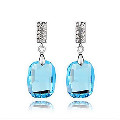 levne Náušnice-Dámské Křišťál High End Crystal Náušnice Přizpůsobeno Geometrik minimalistický styl Euramerican Šperky Zlatá / Tmavomodrá / Modrá Pro Svatební Párty Narozeniny Dar