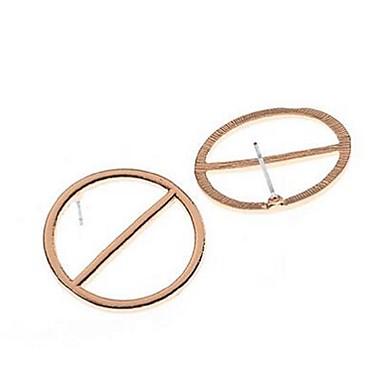 للمرأة أقراط الزر أقراط قطرة تصميم دائري تصميم فريد سبيكة دائري مجوهرات يوميا فضفاض مجوهرات