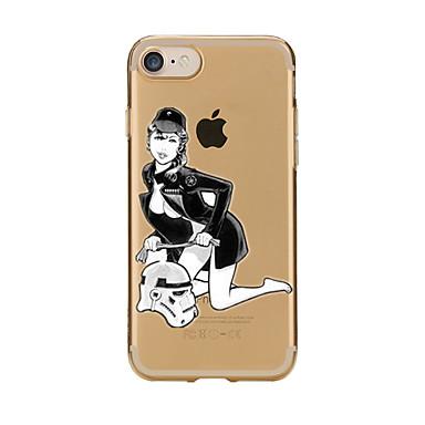 غطاء من أجل iPhone 7 Plus iPhone 7 iPhone 6s Plus أيفون 6بلس iPhone 6s ايفون 6 أيفون 5 أيفون 5C أيفون 4/4S Apple شفاف نموذج غطاء خلفي