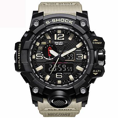 levne Pánské-Pánské Náramkové hodinky Hybridní hodinky Z umělé kůže Černá / Modrá / Červená 30 m Voděodolné Kalendář Svítící Analog - Digitál Přívěšky Vintage Na běžné nošení Skládaný Módní - Zelená Modrá Khaki
