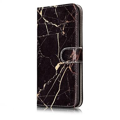 Varten Korttikotelo Lomapkko Tuella Flip Kuvio Magneetti Etui Kokonaan peittävä Etui Marmori Kova Tekonahka varten AppleiPhone 7 Plus