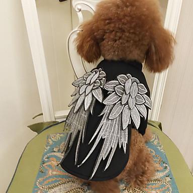 Γάτα Σκύλος Στολές Ρούχα για σκύλους Κλασσικό Χαριτωμένο Στολές Ηρώων Γενέθλια Μοντέρνα Angel & Devil Μαύρο Στολές Για κατοικίδια
