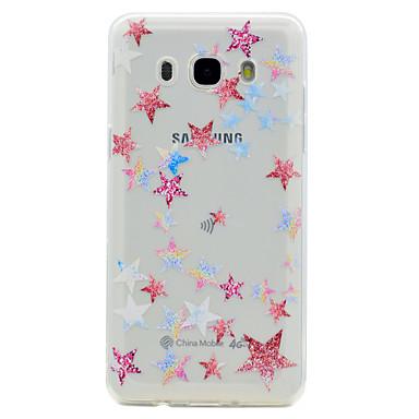 Etui Käyttötarkoitus Samsung Galaxy J7 Prime J5 Prime Läpinäkyvä Kuvio Takakuori Geometrinen printti Pehmeä TPU varten J7 Prime J5 Prime