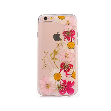 Etui Käyttötarkoitus Apple iPhone 7 Plus iPhone 7 DIY Takakuori Kukka Pehmeä TPU varten iPhone 7 Plus iPhone 7 iPhone 6s Plus iPhone 6s