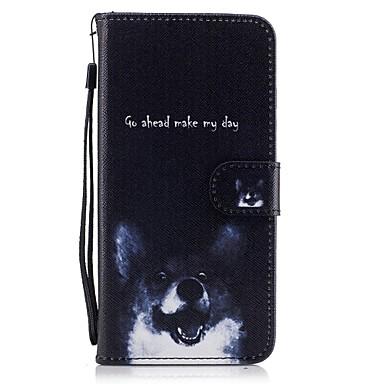 غطاء من أجل Apple iPhone 7 Plus iPhone 7 حامل البطاقات محفظة مع حامل قلب نموذج غطاء كامل للجسم كلب قاسي جلد PU إلى iPhone 7 Plus iPhone 7