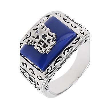Band Ring - Geometric Shape Μοναδικό / Λογότυπο / Χειροποίητο Μπλε Δαχτυλίδι Για Ειδική Περίσταση