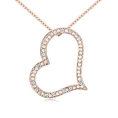 Γυναικεία Κρεμαστά Κολιέ Κρυστάλλινο Εξατομικευόμενο Love Καρδιά Μοντέρνα Κοσμήματα Για Γάμου Πάρτι Γενέθλια
