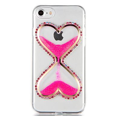 Kılıf Na iPhone 7 Plus iPhone 7 iPhone 6s Plus iPhone 6 Plus iPhone 6s iPhone 6 iPhone 5 Apple Stras Z płynem DIY Czarne etui Połysk
