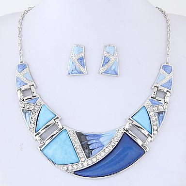 Pentru femei Seturi de bijuterii Aliaj Geometric Shape Euramerican Modă Petrecere Zilnic 1 Colier 1 Pereche de Cercei Costum de bijuterii