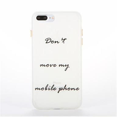 Etui Käyttötarkoitus Apple Hehkuu pimeässä Kuvio Takakuori Sana / lause Pehmeä TPU varten iPhone 7 Plus iPhone 7 iPhone 6s Plus iPhone 6