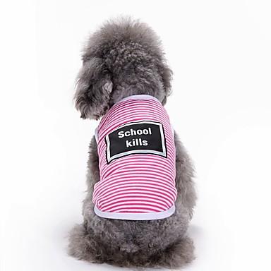 Kediler Köpekler Tişört Vesta Köpek Giyimi Yaz Harf & Sayı Sevimli Moda Günlük/Sade Gri Sarı Pembe