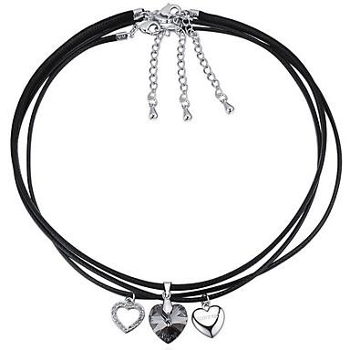 Damskie Naszyjniki z wisiorkami Kryształ Heart Shape Miłość luksusowa biżuteria Biżuteria Na Urodziny