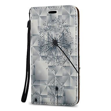 Kılıf Na Samsung Galaxy A5(2017) A3(2017) Etui na karty Z podpórką Flip Magnetyczne Wzór Pełne etui Mniszek lekarski Twarde Skóra PU na