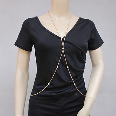 Damskie Biżuteria Łańcuch nadwozia / Belly Chain Modny Postarzane Bohemia Style Perłowy Stop Biżuteria Na Specjalne okazje Casual
