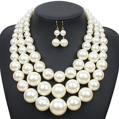 Damskie Zestawy biżuterii euroamerykańskiej Ślub Impreza Specjalne okazje Codzienny Casual Perłowy Inne 1 Naszyjnik 1 parę kolczyków