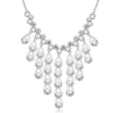 للمرأة قلائد الحلي كريستال قطرة كروم اسلوب لطيف مجوهرات من أجل مناسبة خاصة هدية