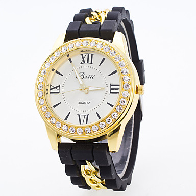 السيدات ساعة رياضية ساعة فستان ساعات فاشن ساعة المعصم كوارتز طرد كبير سيليكون فرقة سحر متعدد الألوان أبيض أسود أرجواني أصفر أحمر