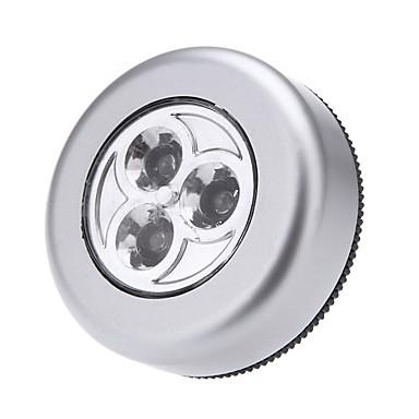 led kosketus yövalo 3leds langattomat keppi hana vaatekaappi touch lamppu mini seinävalaisin kaapin valo ilman paristoja