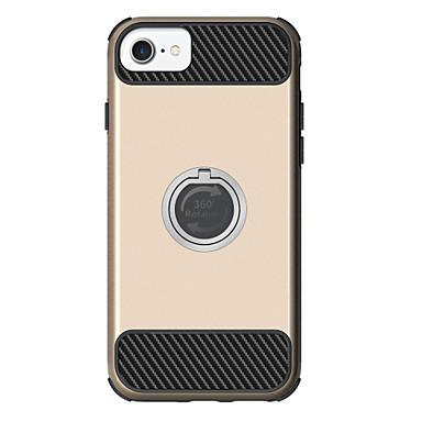 Pouzdro Uyumluluk Apple iPhone 7 Plus iPhone 7 Şoka Dayanıklı Satandlı Yüzüklü Tutacak Arka Kapak Zırh Sert PC için iPhone 7 Plus iPhone