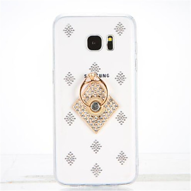 Για Στρας Βάση δαχτυλιδιών Διαφανής Φτιάξτο Μόνος Σου tok Πίσω Κάλυμμα tok Γεωμετρικά σχήματα Μαλακή TPU για Samsung S7 edge