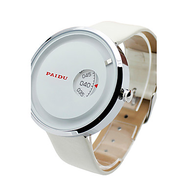 Męskie Kwarcowy Zegarek na nadgarstek Sportowy Skóra naturalna Pasmo Urok Na co dzień Modny Czarny Biały