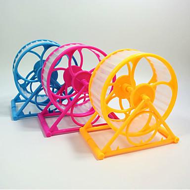 Chinchillas Hamster Plastic Portabil Multifuncțional Cosplay Roți Exercițiu Galben Verde Albastru Roz