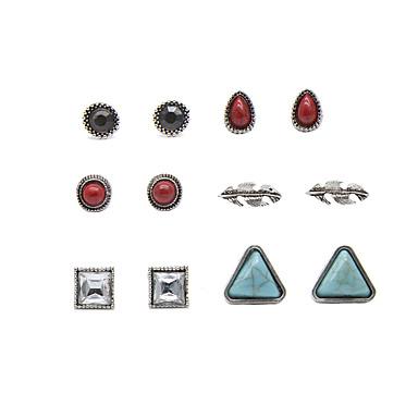 Κουμπωτά Σκουλαρίκια Πεπαλαιωμένο Euramerican Κράμα Geometric Shape Ασημί Κοσμήματα Για Πάρτι Καθημερινά 1set
