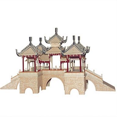مجموعة اصنع بنفسك أحجار البناء قطع تركيب3D ألعاب تربوية تركيب تركيب خشبي ألعاب مربع قصر بناء مشهور الزراعة الصينية بيت معمارية للرجال