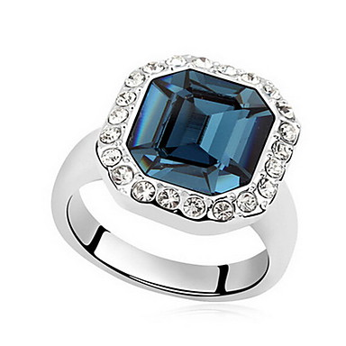 Tyylikkäät sormukset Korut Yksinkertainen Euramerican Gemstone Korut Valkoinen Sininen Vaalean sininen Korut Varten Party Erikoistilaisuus