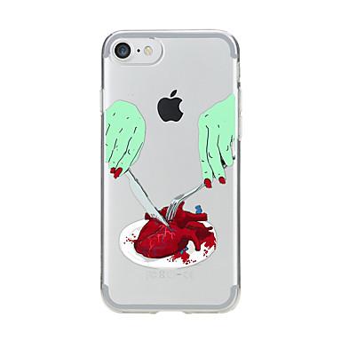 Pentru Transparent Model Maska Carcasă Spate Maska Desen animat Moale TPU pentru AppleiPhone 7 Plus iPhone 7 iPhone 6s Plus iPhone 6 Plus