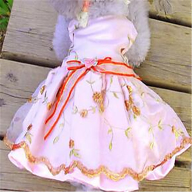 كلب الفساتين ملابس الكلاب جميل تطريز كوستيوم للحيوانات الأليفة