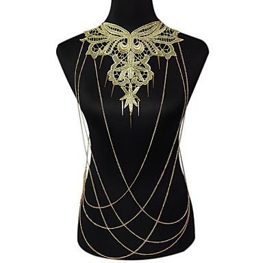 Damskie Biżuteria Łańcuch nadwozia / Belly Chain Modny Bohemia Style Koronka Stop Flower Shape Kropla Gold Biżuteria NaImpreza Specjalne