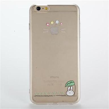 Kılıf Na Apple iPhone 7 Plus iPhone 7 Przezroczyste Wzór Czarne etui Zabawa z logiem Apple Miękkie TPU na iPhone 7 Plus iPhone 7 iPhone